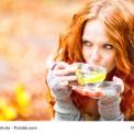 Tee trinken in der Natur